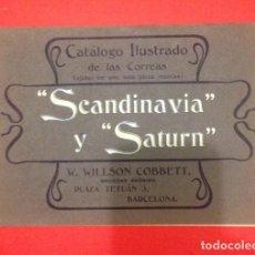 Catálogos publicitarios: CATALOGO ILUSTRADO DE CORREAS SCANDINAVIA Y SATURN BARCELONA 1904. Lote 127744543