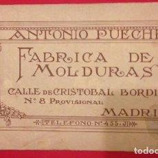Catálogos publicitarios: CATALOGO DE MOLDURAS ANTONIO PUECHE, MADRID 1925. Lote 127834151