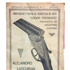 Catálogos publicitarios: BONITO CATALOGO DE ARMAS ESCOPETAS PISTOLAS SELLOS... GOGOR ALEJANDRO LASCURAIN EIBAR GUIPUZCOA 1931. Lote 127885231