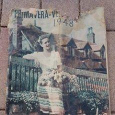 Catálogos publicitarios: CATALOGO GALERIAS PRECIADOS PRIMAVERA VERANO 1948 MODA, JUGUETES. Lote 128133462