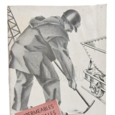 Catálogos publicitarios: CATÁLOGO PUBLICIDAD IMPERMEABLES INDUSTRIALES VIEGUI. BILBAO AÑOS 50 - 60. Lote 128167935