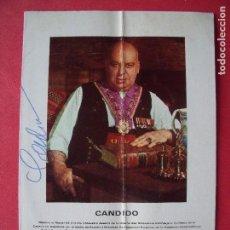 Catálogos publicitarios: CANDIDO.-LA COCINA ESPAÑOLA.-MESONERO MAYOR DE CASTILLA.-FIRMA MANUSCRITA.-GASTRONOMIA.-AÑO 1970.. Lote 128472119