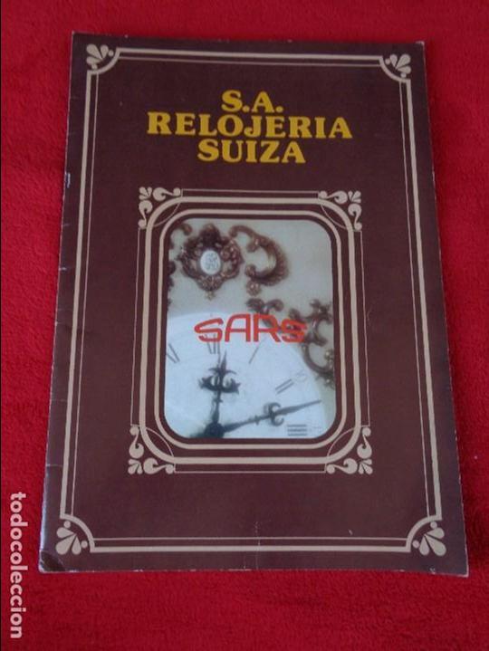 CATALOGO RELOJES S.A.RELOJERIA SUIZA - RELOJ -SARS - 1975 (Coleccionismo - Catálogos Publicitarios)