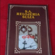 Catálogos publicitarios: CATALOGO RELOJES S.A.RELOJERIA SUIZA - RELOJ -SARS - 1975. Lote 128556219