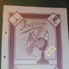 Catálogos publicitarios: ANTIGUO FOLLETO - 1924 - VENTILADORES ISARIA 29,5X22,5 CM. - 1 HOJA . Lote 128611267
