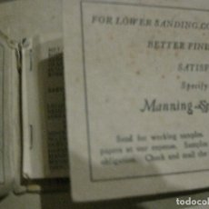 Catálogos publicitarios: CURIOSO ANTIGUO CATALOGO CON MUESTRAS DE PAPEL DE LIJA . MANNING ABRASIVE NEW YORK PUBLICIDAD. Lote 128764947
