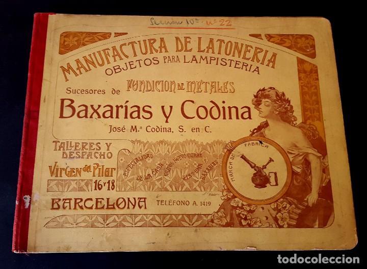 Catálogos publicitarios: MODERNISMO - LAMPISTERIA - 1900 - 1910 - CATALOGO DE BAIXARÍAS Y CODINA - Foto 2 - 129450783
