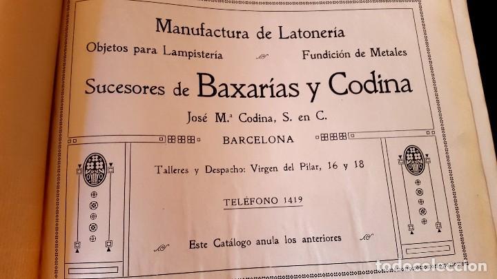 Catálogos publicitarios: MODERNISMO - LAMPISTERIA - 1900 - 1910 - CATALOGO DE BAIXARÍAS Y CODINA - Foto 3 - 129450783