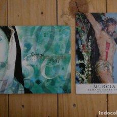 Catálogos publicitarios: PROGRAMA FIESTAS DE SEMANA SANTA REGIÓN DE MURCIA 2001 Y POSTAL SEMANA SANTA MURCIA 1996. Lote 127851475
