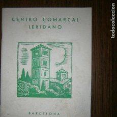 Catálogos publicitarios: CENTRO COMARCAL LERIDANO BARCELONA DICIEMBRE 1962 Nº58 MUSEO COMARCAL DE CERVERA. Lote 130164991