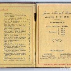 Catálogos publicitarios: TABLAS Y TARIFAS DE PRODUCTOS SIDERURGICOS, JUAN M.PUYO, ALMACEN DE HIERROS, BILBAO. Lote 130406486