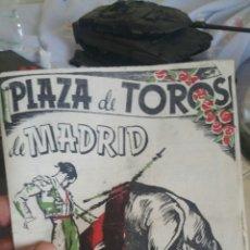 Cataloghi pubblicitari: REVISTA O COMPLETO PLAZA DE TOROS DE MADRID AÑO 1942 PROGRAMA OFICIAL. Lote 130536128