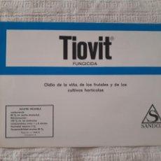 Catálogos publicitarios: TIOVIT. SANDOZ. ANTIGUO FOLLETO PUBLICITARIO TRÍPTICO HORTÍCOLA.. Lote 130547555