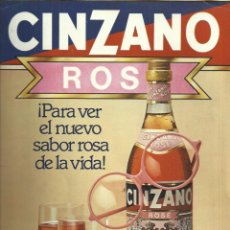 Catálogos publicitarios: HOJA PUBLICITARIO DE CINZANO ROSÉ - 70'S. Lote 130709744