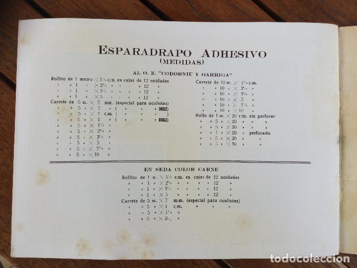 Catálogos publicitarios: CATÁLOGO ESPARADRAPO ADHESIVO CODORNIU Y GARRIGA (ORIGINAL). - Foto 4 - 130912384