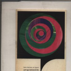 Catálogos publicitarios: RADIO NACIONAL DE ESPAÑA PROGRAMACION MADRID 1969 NOVIEMBRE CATALOGO GASTOS DE ENVIO GRATIS. Lote 131033088
