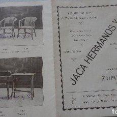 Catálogos publicitarios: ANTIGUO CATALOGO.JACA HERMANOS Y CIA.FABRICACION MUEBLES DE JUNCO.CESTERIA.ZUMARRAGA,AÑOS 20,30. Lote 131215796
