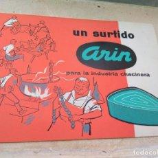 Catálogos publicitarios: CATÁLOGO PUBLICITARIO ARIN INDUSTRIA CHACINERA - CARNICERÍA - TALLERES IRMILL S.L BARCELONA. Lote 131439646