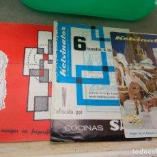 Catálogos publicitarios: LOTE CATÁLOGOS FRIGORÍFICOS KELVINATOR. Lote 131443954
