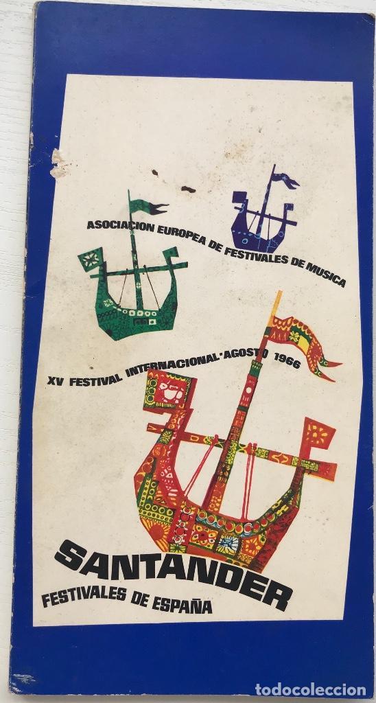 ebdfa5997 Catálogo del XV Festival Internacional de Santander - Año 1966 (Música,  Danza, Testro)