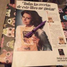 Catálogos publicitarios: ANTIGUO ANUNCIO PUBLICIDAD AÑOS 80 RECETAS PASTAS GALLO ESPECIAL COLECCIONISTAS. Lote 131921962