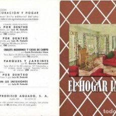 Catálogos publicitarios: DÍPTICO PUBLICITARIO LIBRO EL HOGAR INGLÉS. AÑOS 40-50. Lote 132407086