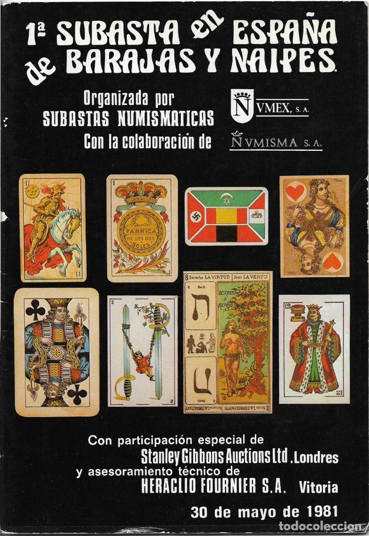 CATÁLOGO 1ª SUBASTA EN ESPAÑA DE BARAJES Y NAIPES - HERACLIO FOURNER - 1981 (Coleccionismo - Catálogos Publicitarios)