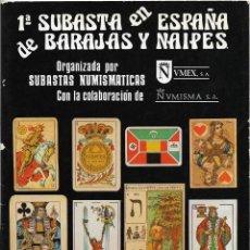 Catálogos publicitarios: CATÁLOGO 1ª SUBASTA EN ESPAÑA DE BARAJES Y NAIPES - HERACLIO FOURNER - 1981. Lote 132517894