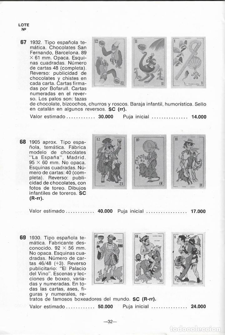 Catálogos publicitarios: CATÁLOGO 1ª SUBASTA EN ESPAÑA DE BARAJES Y NAIPES - HERACLIO FOURNER - 1981 - Foto 2 - 132517894