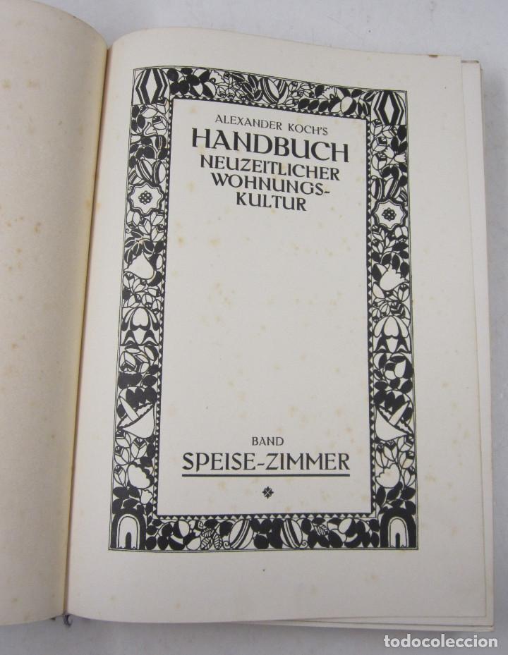 Catálogos publicitarios: Catálogo muebels alemán, 1913, Alexander Koch Handbuch, Darmstadt. 23x30,5cm - Foto 2 - 132633318