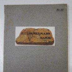Catálogos publicitarios: CATÁLOGO ALEMÁN MUEBLES ANTIGUOS, AÑOS 20, E. G ZIMMERMANN, HANAU. 22,5X29CM. Lote 132643878