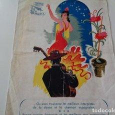 Catálogos publicitarios: VALENCIA. TERRAZA JARDÍN RIALTO. PROGRAMA DE VARIEDADES. AÑOS 60. Lote 132685086