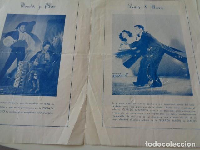 Catálogos publicitarios: VALENCIA. TERRAZA JARDÍN RIALTO. PROGRAMA DE VARIEDADES. AÑOS 60 - Foto 2 - 132685086