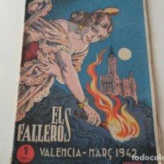 Catálogos publicitarios: VALENCIA. ELS FALLEROS. MARZO 1942.. Lote 132867614