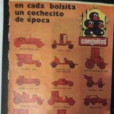 Catálogos publicitarios: .1 RECORTE DE PUBLICIDAD DE ** CONGUITOS, SERIE DE 14, COCHECITOS ** - AÑO 197?- DE 26,5 X 18,5 CMS.. Lote 133080790