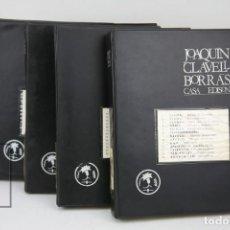 Catálogos publicitarios: CONJUNTO DE CATÁLOGOS COMERCIALES - JOAQUIM CLAVELL BORRÁS / CASA EDISON - ELECTRICIDAD, MAQUINARIA. Lote 133213658