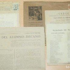 Catálogos publicitarios: ANTIGUO SOBRE CON MATERIAL PUBLICITARIO E IMPRESOS DE CEDECO - ENSEÑANZA POR CORRESPONDENCIA. Lote 133853402