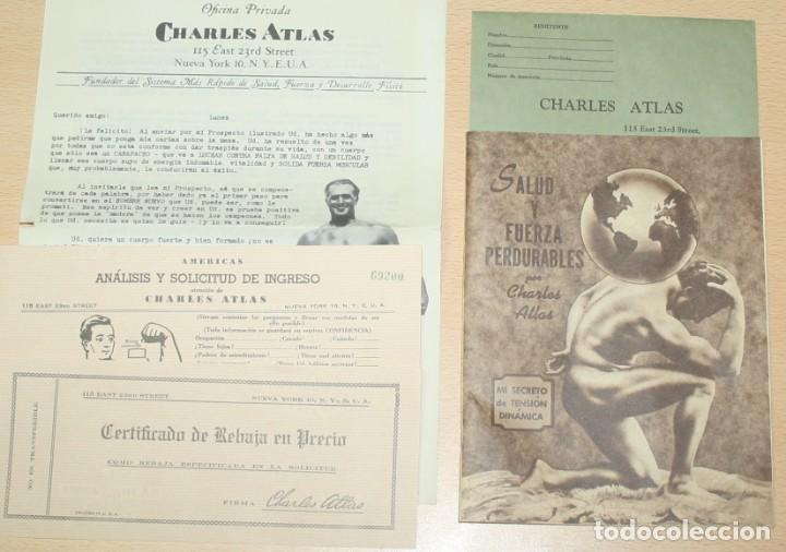 MATERIAL PUBLICITARIO E IMPRESOS DE CHARLES ATLAS - CULTURISMO (Coleccionismo - Catálogos Publicitarios)