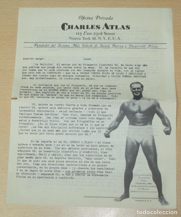 Catálogos publicitarios: Material publicitario e impresos de Charles Atlas - Culturismo - Foto 5 - 217341462
