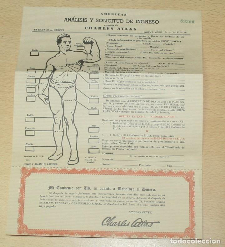 Catálogos publicitarios: Material publicitario e impresos de Charles Atlas - Culturismo - Foto 8 - 217341462