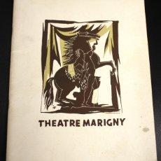 Catálogos publicitarios: PROGRAMA THÉATRE MARIGNY. PARIS. EN FRANCES. 19 NOVIEMBRE 1949. Lote 133902721