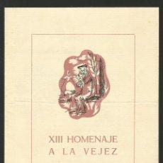 Catálogos publicitarios: SANT JOAN DE LES ABADESSES - XIII HOMENAJE A LA VEJEZ - 24 DE JUNIO DE 1961 - DÍPTIC 16 X 22 CM.. Lote 134134618