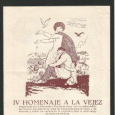 Catálogos publicitarios: CALDES DE MONTBUI - IV HOMENAJE A LA VEJEZ -21 DE MAYO DE 1956 - DÍPTIC - 16,7 X 22 CM.. Lote 134135622