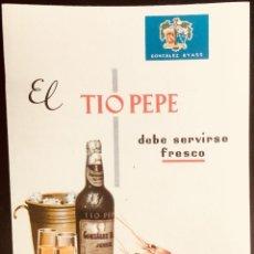 Catálogos publicitarios: FOLLETO PUBLICITARIO DE TIO PEPE. DE GONZALEX BYASS,. Lote 134305190
