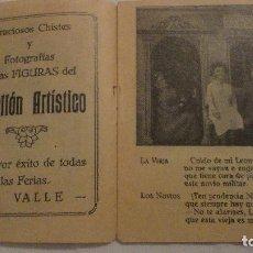 Cataloghi pubblicitari: PABELLON ARTISTICO.GRACIOSOS CHISTES.EXITO DE FERIAS.A.VALLE.. Lote 134665730