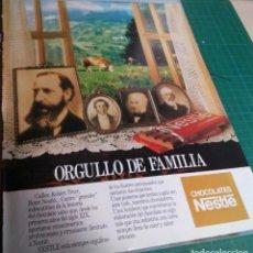 Catálogos publicitarios: NESTLE.PUBLICIDAD DE NESTLE.PUBLICIDAD CHOCOLATES NESTLE.. Lote 134833206