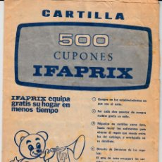 Catálogos publicitarios: LIBRETA CON CUPONES - VIÑETAS - IFAPRIX. Lote 134951230