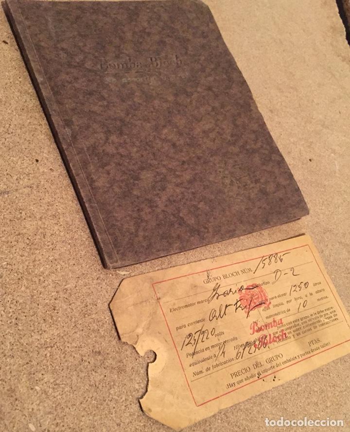 Catálogos publicitarios: 1923, ELECTRO BOMBA BLOCH. Manual comercial. - Foto 2 - 135048731