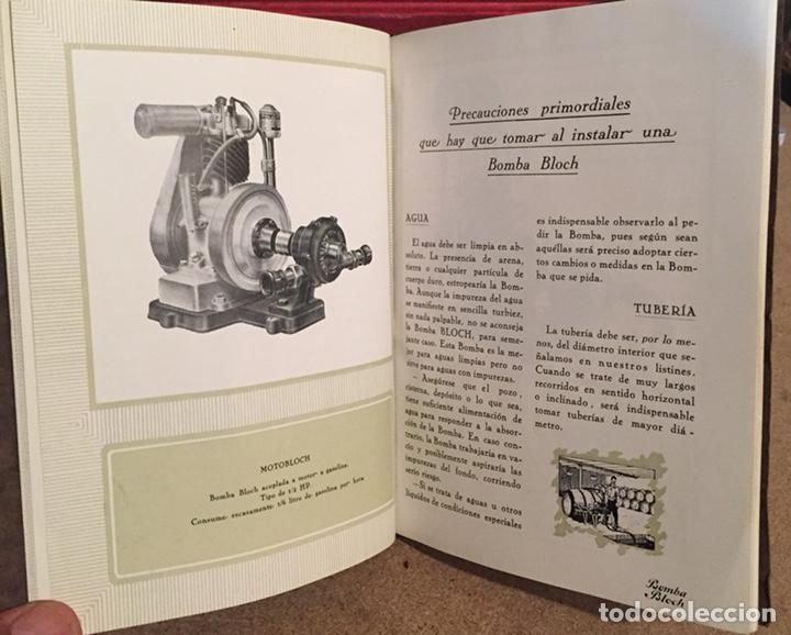 Catálogos publicitarios: 1923, ELECTRO BOMBA BLOCH. Manual comercial. - Foto 4 - 135048731