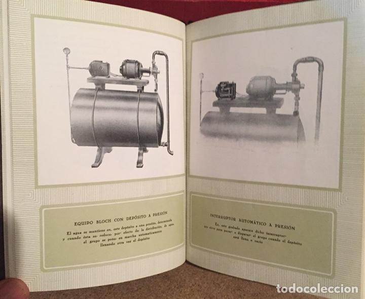 Catálogos publicitarios: 1923, ELECTRO BOMBA BLOCH. Manual comercial. - Foto 5 - 135048731